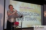 Julie Ferman (Cupid's Coach) Winner of Best Matchmaker at the 2010 iDateAwards Ceremony in Miami