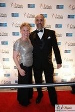 Julie Ferman (Cupid's Coach) and Paul Falzone (eLove) at the 2010 iDate Awards Ceremony
