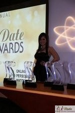 Award Model Andrea O'Campo at the 2010 iDateAwards Ceremony in Miami