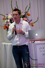 Chas McFeely (CEO of HuookChasUp.com) at the 2011 L.A. Internet Dating Summit and Convention