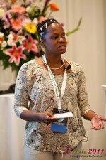 Robinne Burrell (Vice President at Match.com) at the June 22-24, 2011 Dating Industry Conference in California