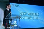 Mark Brooks - Announcing Best Mobile Dating Site Winner for 2012 at the 2012 iDateAwards Ceremony in Miami