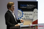 Florian Braunschweig (CTO of Lovoo) at the September 10-11, 2012 Mobile and Internet Dating Industry Conference in Germany