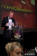 Dan Winchester reading on behalf of ChristianConnection.co.uk, winner of Best Niche Dating Site at the 2013 iDateAwards Ceremony in Las Vegas held in Las Vegas