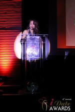 Carmelia Ray announcing Best Up and Coming Dating Site at the 2013 iDate Awards