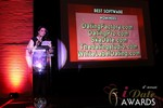 Maria Avgitidis announcing the Best Dating Software and SAAS at the 2013 iDate Awards Ceremony