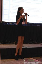 Rosalie Sutherland Of AnastasiaDate Speaking On Mobile Dating Conversions  at the 38th Mobile Dating Business Conference in L.A.