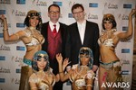 Mark Brooks & Markus Frind  at the January 15, 2014 Internet Dating Industry Awards Ceremony in Las Vegas