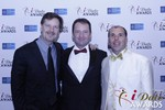 eHarmony's Grant Langston with Mark Brooks and Marc Lesnick in Las Vegas at the January 15, 2015 Internet Dating Industry Awards