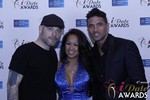 Sean Christian, Carmelia Ray and Doron Kim at the January 15, 2015 Internet Dating Industry Awards Ceremony in Las Vegas