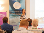 Gloria Diez Business Development From Wamba Speaking at the 12th annual Euro and U.K. iDate conference matchmakers and online dating professionals in London