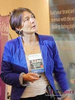 Pauline Tourneur General Manager Of Attractive World Speaking On The French Online And Mobile Dating Market at the October 14-16, 2015 London European Union Internet and Mobile Dating Industry Conference