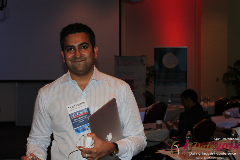 Tushar Chaudhary Associate Director of Product at Verizon on Mobile Dating at the 2016 Internet Dating Super Conference in Miami