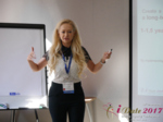 Julia Lanske at the 2017 Premium International Dating Business Conference in Belarus